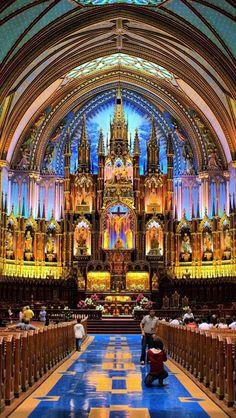 Notre Dame Basilica, Montreal, Quebec, Canada,