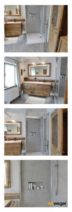 Successful bathroom renovation with Artweger TWISTLINE shower, ARTWALL wall panels in be . Successful bathroom renovation with Artweger TWISTLINE shower, ARTWALL wall panels in concrete, matching gray Grey Floor Tiles, Grey Flooring, Gray Floor, Bathroom Renovations, Tile Design, Interior Design Living Room, House Design, Home, Shower Tips