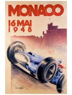 Grand Prix de Monaco, 1948 Impression giclée par George Mattei sur AllPosters.fr