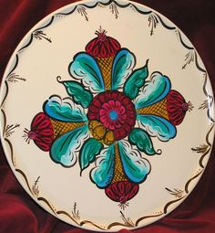 Swedish Folk Art: a hand painted tray of Kurbit design by ...