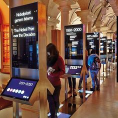 """Time-line"", graphic- and interactive exhibition design, Nobel museum, Stockholm, 2012 Interaktives Design, Kiosk Design, Signage Design, Display Design, Booth Design, Stand Design, Graphic Design, Media Design, Banner Design"