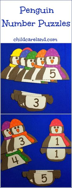Penguin Number Puzzles (from Childcareland)