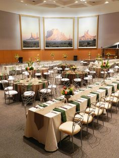 Lovely large scale decor ideas at the National Cowboy Museum ~ #wedding #party #natural #ivory #green #flowers #okc #eventuresinc