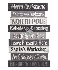 Love this Stacked Christmas Phrase Wall Sign on #zulily! #zulilyfinds