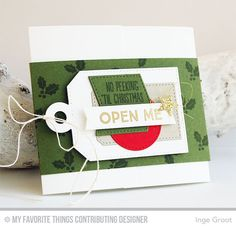 Gift Tag Greetings, Gift Card Pocket - Horizontal, Tag Builder Blueprints 4 Die-namics - Inge Groot  #mftstamps