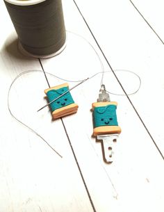 Thread Spools, Needle And Thread, Needle Minders, Neodymium Magnets, Sewing Notions, Clay Creations, Cross Stitch Embroidery, Polymer Clay, Clay Ideas