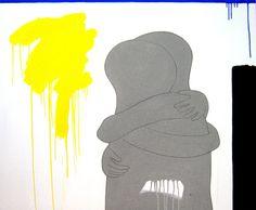 """andrea mattiello """"l'abbraccio al figlio perduto"""" acrilico e grafite;cm 120x100; 2011 #andreamattiello #mattiello #arte #art #contemporaryart #italianartist #artista #artista #emergente #acrilico #tela #tecnicamista #acrylic #canvas #collage"""