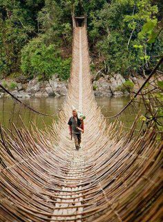 Congo, Africa. What a cool bridge!