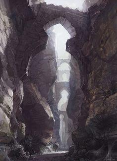 A narrow and desolate ravine by Choi - kyu seok choi - CGHUB via PinCG.com