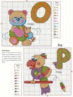 Bellissimo alfabeto punto croce con animaletti baby (10)