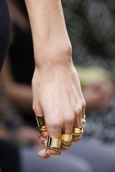 Balenciaga Spring 2013, rings