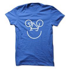 Smiling bicycle. Funny Fitness tee shirt design.   See more at https://everrandom.com/fitness/