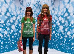 Be the talk of the party with this Ugly Christmas Sweater t shirt..check it out..$20.00, via Etsy.