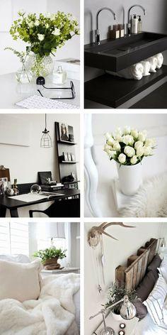 HANANAA: INTERIOR INSPIRATION white nordic scandinavian flowers bathroom work space