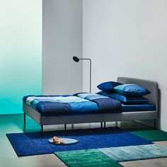 The 2020 IKEA Catalog is officially here, and we can't wait for the launch of new ergonomic pillows, elegant upholstered beds, and sound-absorbing panels at IKEA. Upholstered Queen Bed Frame, Ikea Ps Cabinet, Bed Frame With Storage, Queen Beds, Retro Design, Home Interior, Home Design, Duvet, Bedding