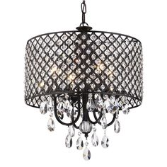 Clemence 4-Light Drum Chandelier, Dining Room