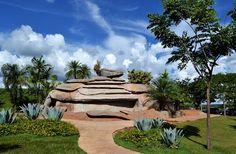 Cascata da Gruta de Trindade,  Santuário - Trindade - Goiás, Brazil