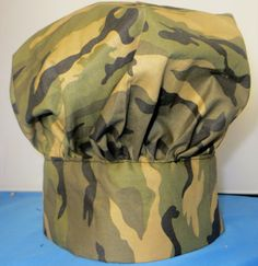 Adult Chef Hat Camouflage One Size Fits All by TheGrownUpsTable, $15.00