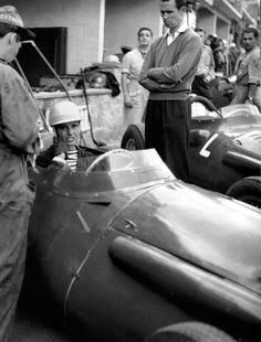 F1 1958,Spa. Maria Teresa de Filippis (Maserati 250F)in the pits