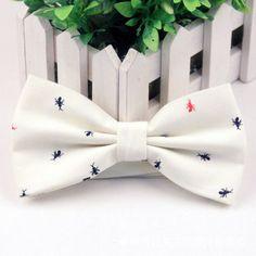 Men's Bow Tie British Style Cotton Bowtie for Men Casual Gravata Borboleta of Vestidos Wedding Party Butterfly Anchor Bow Ties