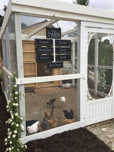 Chicken Coop.( Great use for that extra screen door) #chickencoopideas