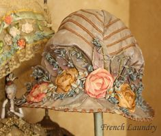I ❤ ribbonwork . . . Hats off to you! Antique ribbon work-a love story