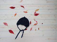 Denim Blue Newborn Hat   Alpaca Wool Baby Hat   Baby Wool Earflap   Warm Winter Baby Hat   Newborn Helmet   Christmas Gift For Baby