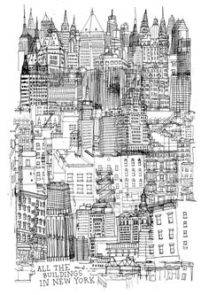 all the buildings in new york seminal print. i want this so badly!!!
