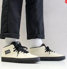3167994d46a FOR SALE: Vans Men's Half Cab Suede Skate Shoes Classic White Black Outsole