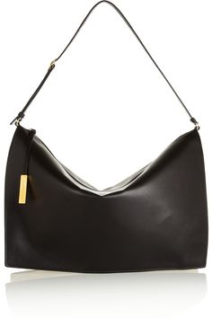 Stella McCartney | Beckett faux leather and canvas shoulder bag | NET-A-PORTER.COM
