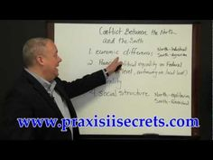 Praxis II World and U.S. History Test Review - Conflict Between the North and South - YouTube