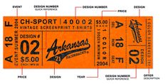 vintage sport ticket inspired graphic design project by mike dove