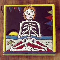 Talavera tile yogi!