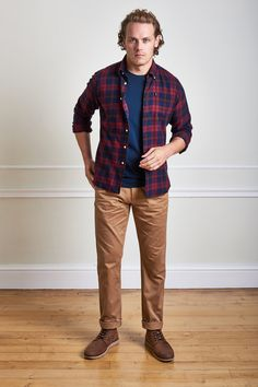 The Barbour Seth shirt is a tailored fit highland check shirt with a neat button down collar.