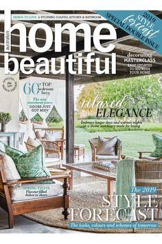 Home Beautiful October 2018 flip-over issue African Crafts, Beautiful Cover, Australian Homes, Outdoor Furniture Sets, Outdoor Decor, Design Files, Master Class, Own Home, Perfect Match