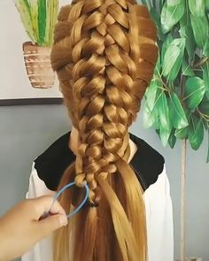 Easy Hairstyles For Long Hair, Braids For Long Hair, Up Hairstyles, Braided Hairstyles, Front Hair Styles, Long Hair Video, Stylish Hair, Hair Videos, Hair Hacks