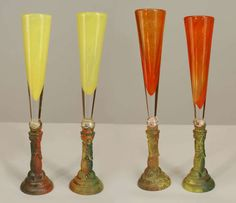 color french champagne flute | Set Of Eight Post-War Polychrome Kosta Boda Champagne Flutes image 2