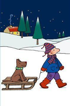 Kleurplaat Jules In De Sneeuw Om Af Te Drukken Op