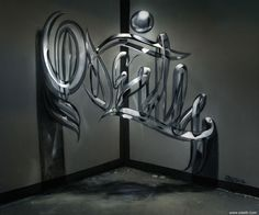 Odeith, an extraordinarily talented street artist based in Portugal, creates incredible works of street art that will fool your eyes into thinking that they're floating 3D sculptures. His mastery of anamorphic art and perspective is truly mind-boggling.