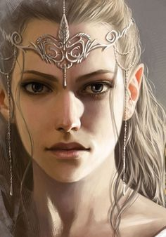 Elven Princess The sadness and determination in her eyes are extraordinarily real! #elven #princess #art