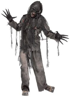 burnt zombie adult costume
