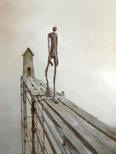 Antoine Jossé 1970 ~ Surrealist sculptor and painter Steel Sculpture, Art Sculpture, Modern Sculpture, Infinity Drawings, Australian Painters, Plastic Art, Weird Art, Land Art, Installation Art
