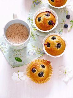 Blueberry Banana and Cream Muffins