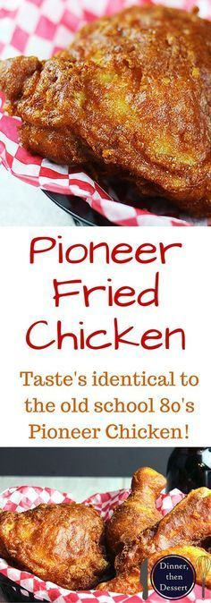 Shatteringly crisp, flavorful Pioneer Fried Chicken that tastes so nostalgic you will feel like you've gone back in time! Easy to make, only takes five minutes to make the wet batter and straight into the fryer! Serve with corn on the cob and your favorit Turkey Dishes, Turkey Recipes, Meat Recipes, Cooking Recipes, Dinner Recipes, Game Recipes, Recipies, Copycat Recipes, Fried Chicken Dinner