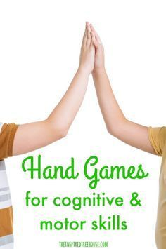 The Inspired Treehouse - Hand games are great way to develop hand-eye coordination, bilateral coordination, motor planning and midline crossing and they have been one of our top posts at The Inspired Treehouse. Cognitive Activities, Occupational Therapy Activities, Motor Skills Activities, Gross Motor Skills, Sensory Activities, Learning Activities, Movement Activities, Activities For 6 Year Olds, Play Therapy Activities