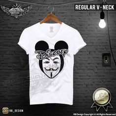 Anonymous Mens Disobey T-shirt High Life Drug Mickey Head RB Design Style MD661