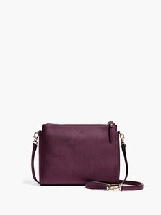 LOVE this color! The Pearl - Leather Crossbody Bag & Clutch - Designed by Lo & Sons #loandsons