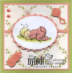 To babykort med stempel fra Gcs ArtStamps 2009