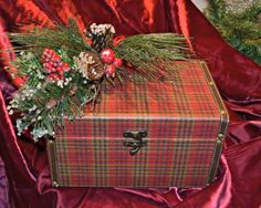HALF PRICE SALE No Coupons 1Red Plaid Holiday by MoreFriendsAndCo, $17.95