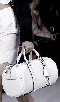 White barrel bag, chic minimal fashion details // Christian Dior Spring 2016